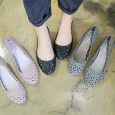 kami et muse 5cm wedge flower jelly shose_KM18s313