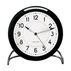 아르네야콥센 Table Clock Station Black (43672)