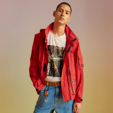 TRANSMUTABLE UTILITY WINDBREAKER JACKET awa143m(Red)