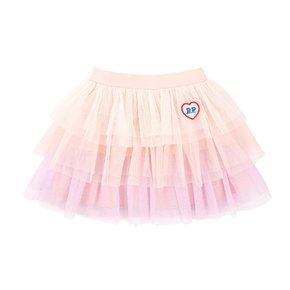 Bp heart wappen tiered tulle skirt
