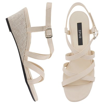 웨지샌들 OS7071 Double cross strap wedge 베이지