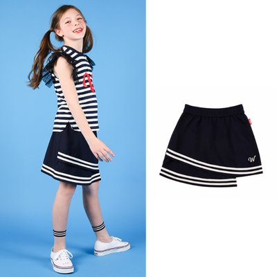 [50% SALE] Stripe-trimmed mini skirt