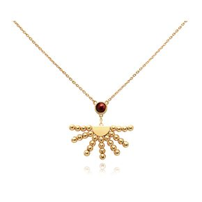 MISAKI 미사키  QCRPRISELONGRED 진주 팬던트 RISE GOLD RED