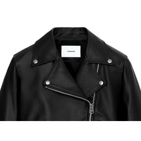 WOMENS BELTED RIDERS JACKET HS [BLACK]