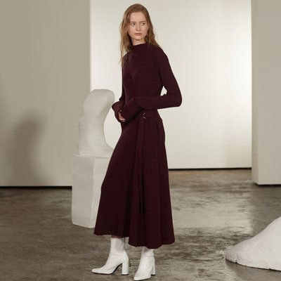 ★SSG특별혜택가★[뮤제] Monet Cashmere Long Knit Dress_Burgundy