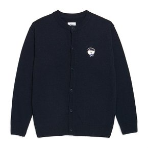ILP SIGNATURE PARIS LOGO ROUND KNIT CARDIGAN NAVY (2773829)