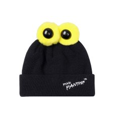 [FW19 Pink Panther] PP Eyes Beanie (Black)