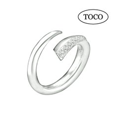 925 Silver White Open Ring