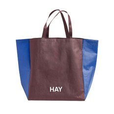 SHOPPING BAG TWO TONE S BURGUNDY