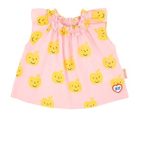 All over yellow apple baby ruffle blouse (BP0234235)