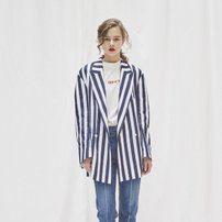 BOLD STRIPE DOUBLE BREASTED JACKET