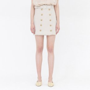 [가브리엘리]  19SS BUTTON-FRONT MINI SKIRT WITH BELT - BEIGE