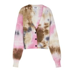 공식[MSGM] W_Tie & Dye Light Wool Knit Cardigan(BROWN)