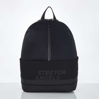 스트레치엔젤스[M.E.S.H] Middle zipper dome backpack (Black)