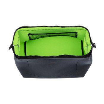 WIRED POUCH Large Dark Gray x Green