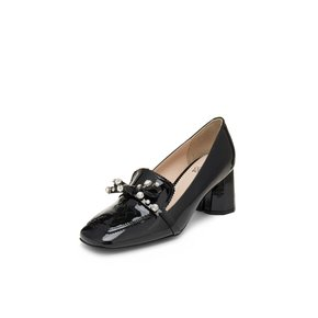 Crystal cubic ribbon pumps(black)_DG1BX19007BLK