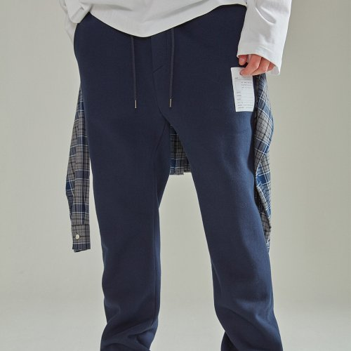 LAYERED SHIRT JOGGER PANTS NAVY