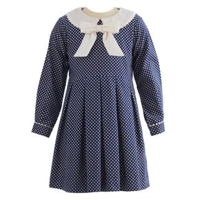 Polka Dot Babycord Dress