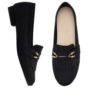 SPUR 로퍼 fringe metallic loafer 네이비
