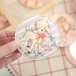 paper doll mate pocket mirror-Lamb