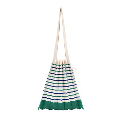 [조셉앤스테이시] Lucky Pleats Knit M Stripe Jelly Green/Royal Blue
