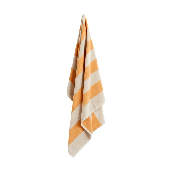 Frotte Stripe Bath Towel Warm Yellow