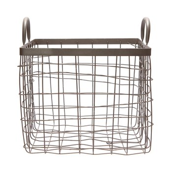 SQUARE BASKET W/HANDLE MEDIUM