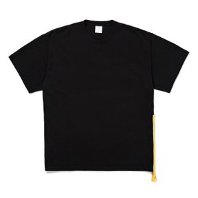 SIDE ZIP BIG TEE BLACKxYELLOW