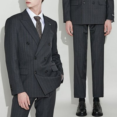 two tone stripe suit _CWFBW18752GYX_CWFCW18752GYX