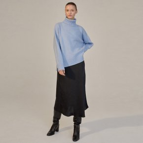 LEXIS CASHMERE PULL OVER KNIT - SKY BLUE