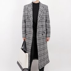 Extra Long Double Tim Coat (Check)