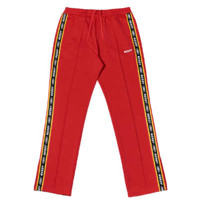 Logo Tape Track Pants Red