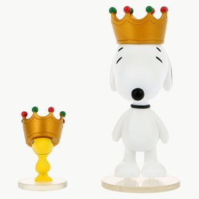 UDF PEANUTS SERIES6 CROWN SNOOPY AND WOOD STOCK SET