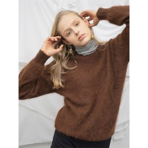 [누팍]Soft Angora Knit_Brown