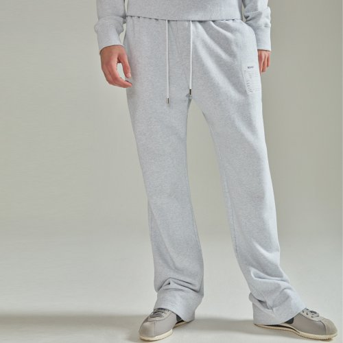 [NOHANT] NAME LABEL SWEATPANTS LIGHT GRAY