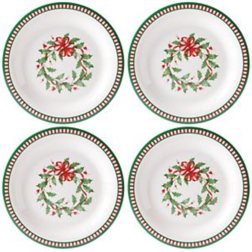 레녹스 LENOX Holiday Melamine Striped 디너접시 4개