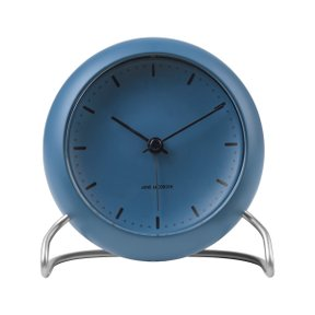 아르네야콥센 Table Clock City Hall Stone Blue (43691)