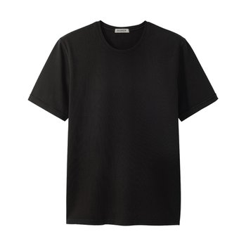 7oz Supima 4ply Garment dyed Tee Double black