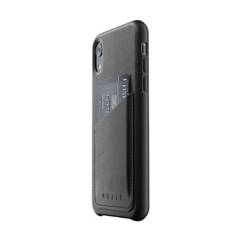 Full Leather Wallet Case for iPhone Xr - Black