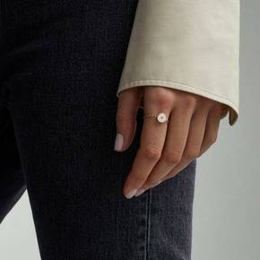 (면세정상가157,000원)[MONICA VINADER]RP LINEAR SOLO FRIENDSHIP CHAIN DIAMOND RING - DIAMOND / RP-RG-LDSD-DIA(8월마감환율기준)