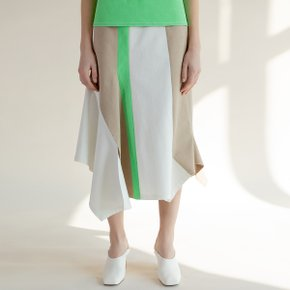 Color Matched Asymmetric Skirt (TESSK15)