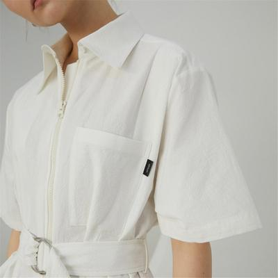 panel&tuck belted shirtdress_iv