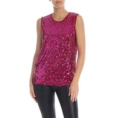 [패로슈] Red jersey top with fuchsia sequins (RUNWAY D150560 042)