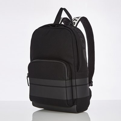 스트레치엔젤스[M.E.S.H] Basic zipper pocket backpack M (Black)
