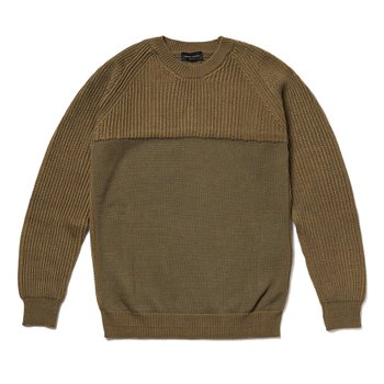 CONTRAST ROUDNECK KNIT 그린