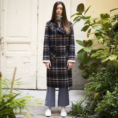 [30%할인적용가]MARSSON CHECK HANDMADE COAT [YELLOW]