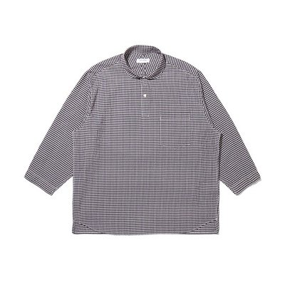 over-fit 3/4 check shirt_CWSAM20362BKX