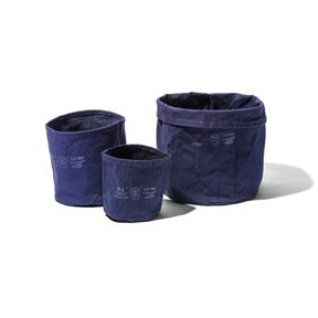CANVAS POT COVER Medium/Navy Blue