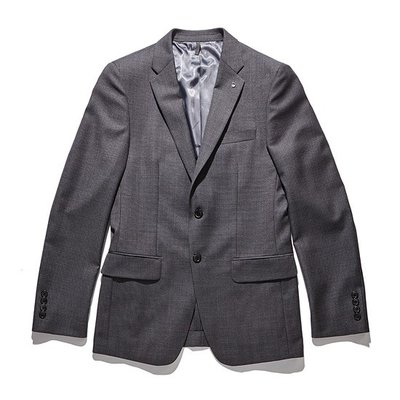 micro pattern single suit jacket_CWFBS18232GYX