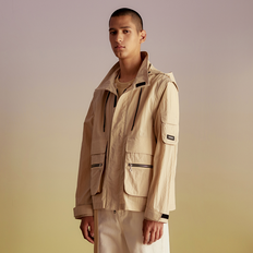 TRANSMUTABLE UTILITY WINDBREAKER JACKET awa143m(Cream)